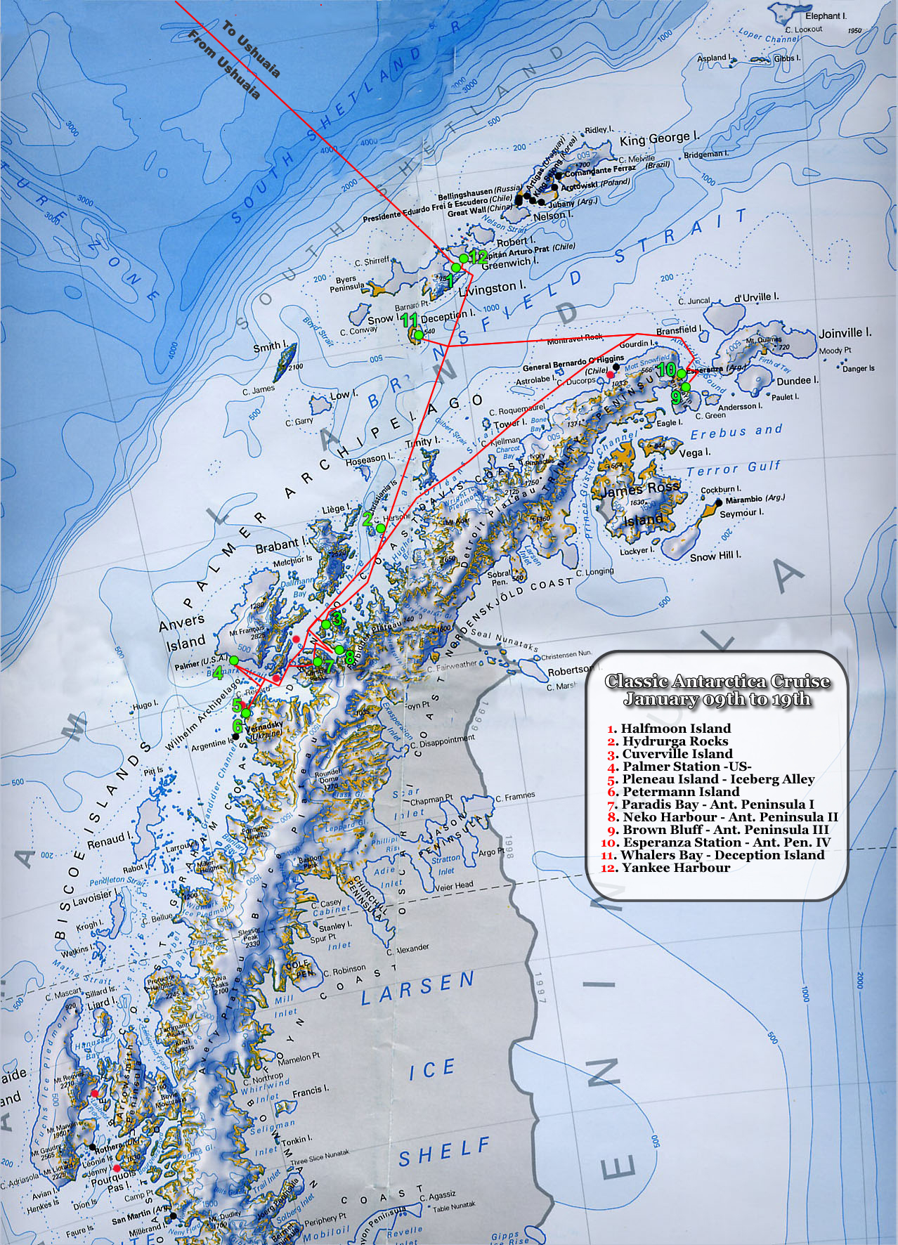 Antarctica Expedition Map