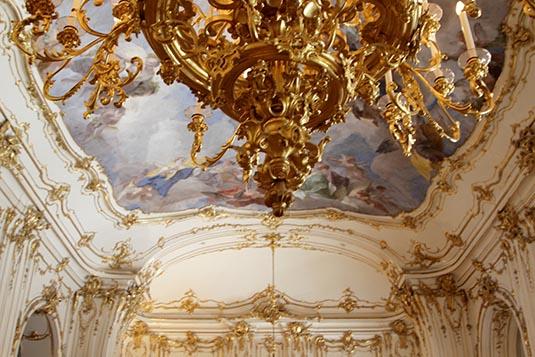 Ornamental Wall Schonbrunn Palace Vienna Austria
