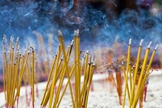 Incense Sticks, Temple, Siem Reap, Cambodia