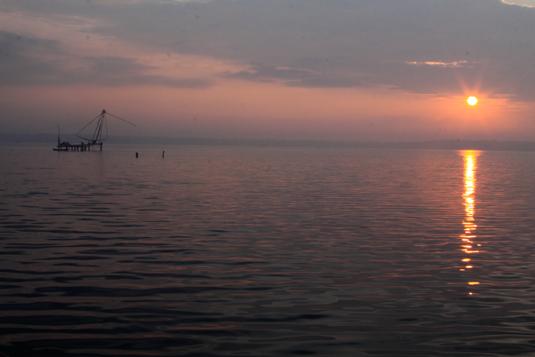 Dawn Ashtamudi Lake Ashtamudi Kerala