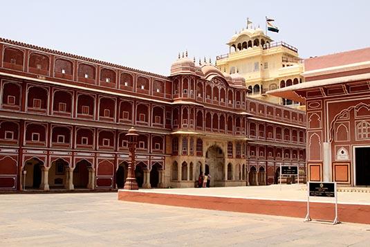 Courtyard City Palace Jaipur India