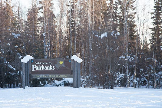 Welcome Sign Fairbanks Alaska USA - Where is fairbanks